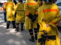Brandschutzübung stockfoto