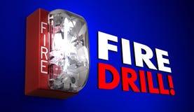 Brandschutzübungs-Warnung fasst Praxis-Notübung ab vektor abbildung