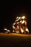 Brandshow på Koh Samet, Thailand. Fotografering för Bildbyråer