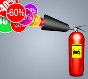 Brandsläckare Fotografering för Bildbyråer
