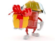Brandsläckaretecken med gåvan vektor illustrationer
