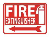 Brandsläckareteckenisolat på vit bakgrund, vektorillustration stock illustrationer