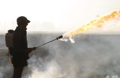 brandstartknapp royaltyfria bilder