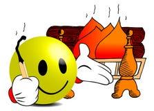 brandstartknapp Arkivbild