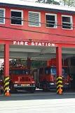 Brandstation i Grenada som är karibisk Arkivfoton