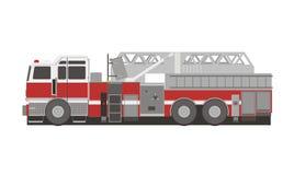 Brandstationlastbilillustration Vektor Illustrationer