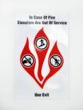 brandteckenvarning Arkivfoton
