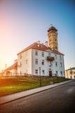 Brandtorn i Grodno, Vitryssland arkivfoton