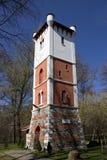 Brandtorn i Targu-Jiu Arkivfoto