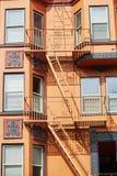 Brandtrap op een gebouw in San Francisco Stock Fotografie