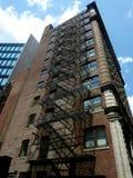 Brandtrap van flatgebouw in Boston Massac Royalty-vrije Stock Foto