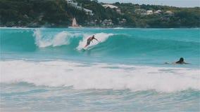 Brandung herauf die Bali-Wellen stock video