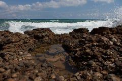 Brandung, Kreta Analipsi Lizenzfreie Stockbilder