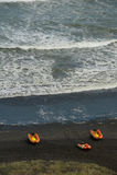 Brandung-Rettungsboote am betriebsbereiten Lizenzfreie Stockbilder