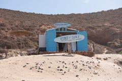 Brandungs-Schule im legzira, Marokko stockbild