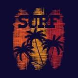 Brandungstypographieplakat T-Shirt Mode Design Lizenzfreie Stockfotografie