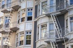 Brandutgång i San Francisco, USA Arkivbilder