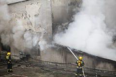 Brandvechters op Plicht Royalty-vrije Stock Foto's