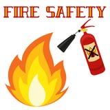 Brandveiligheidsaffiche op witte achtergrond wordt geïsoleerd die Stock Foto