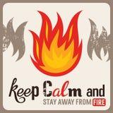 Brandveiligheidsteken royalty-vrije illustratie
