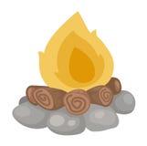 Brandvektor royaltyfri illustrationer