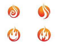 Brandvlam Logo Template Stock Afbeeldingen