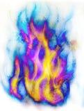 Brandvlam in ruimte De kosmische ruimte en de sterren, kleuren kosmische abstracte achtergrond witte kleur op de randen Royalty-vrije Stock Fotografie