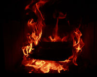 Brandvlammen Stock Foto's