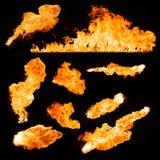 Brandvlammen Stock Afbeelding