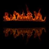 Brandvlammen Royalty-vrije Stock Fotografie
