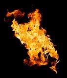 Brandvlammen - op zwarte achtergrond worden geïsoleerd die royalty-vrije stock foto's