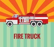 Brandvrachtwagen - vectortekening Stock Foto