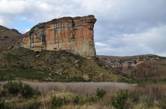 Brandwag Buttress, Golden Gate National Park, South Africa Royalty Free Stock Images