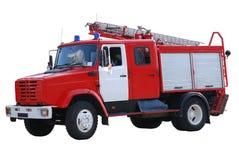 Brandweerauto die op wit wordt geïsoleerds royalty-vrije stock fotografie