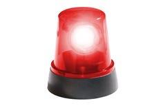Brandweerkorps, geïsoleerd rood licht Royalty-vrije Stock Afbeeldingen