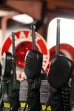 Brandweerkorpsradio's in brandvrachtwagen Royalty-vrije Stock Foto