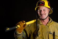 Brandweerman stock afbeelding