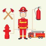 Brandweerman stock illustratie