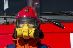 Brandweerman beschermende middelen royalty-vrije stock foto