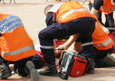 Brandweerman het Frans Royalty-vrije Stock Afbeeldingen