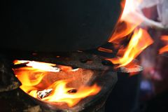 brandwond Stock Afbeelding