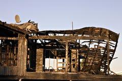Brandwond onderaan huis royalty-vrije stock foto's