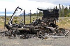 Brandwond uit aanhangwagen 03 royalty-vrije stock foto