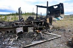 Brandwond uit aanhangwagen 01 royalty-vrije stock foto