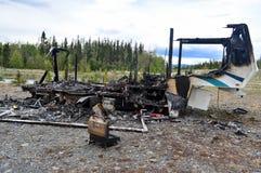 Brandwond uit aanhangwagen 02 stock foto