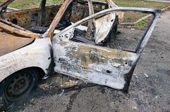 Brandwond uit auto royalty-vrije stock foto