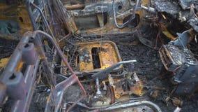 Brandwond uit auto stock footage