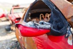 Brandwond uit auto royalty-vrije stock foto's