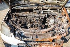 Brandwond uit auto royalty-vrije stock fotografie