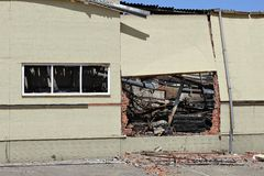 Brandwond uit pakhuis royalty-vrije stock foto